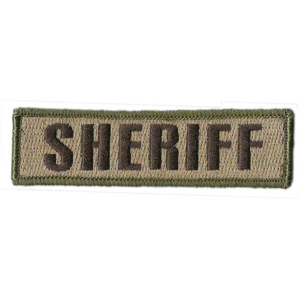 BuckUp Tactical Morale Patch Hook SHERIFF Morale County PD Cop Patches 3 3/4x1