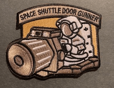 BuckUp Tactical Morale Patch Hook Space Shuttle Door Gunner space force Patches 3.25""