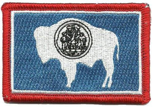 BuckUp Tactical Morale Patch Hook Wyoming Cheyenne State Patches 3x2""