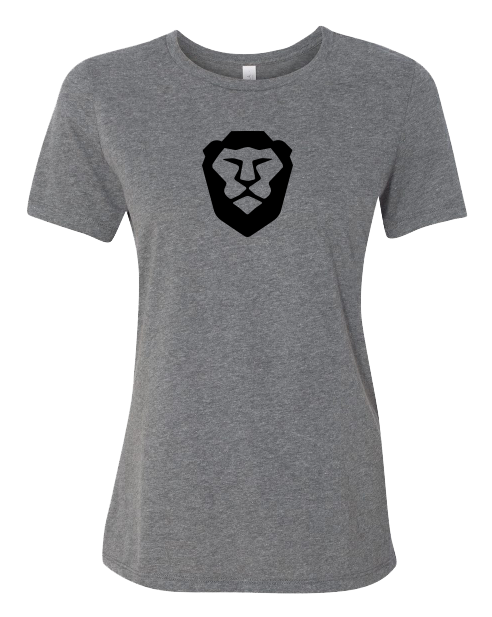 Ladies Grey Brave Lion Tee