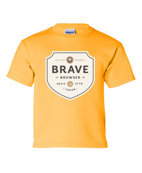 Brave Badge Kids Tee