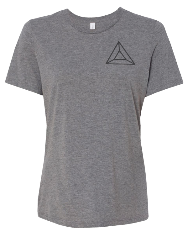 Grey Ladies BAT Logo Tee