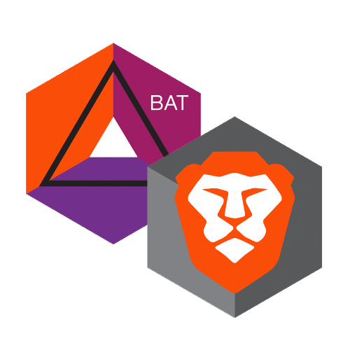 BAT Logo & Brave Lion Stickers - Pack of 10