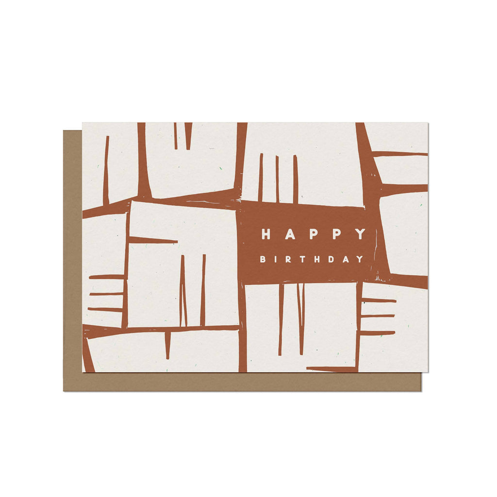 Wish them Happy Birthday with our Post 21 bday card. Blank inside for personal message, printed on recycled paper.