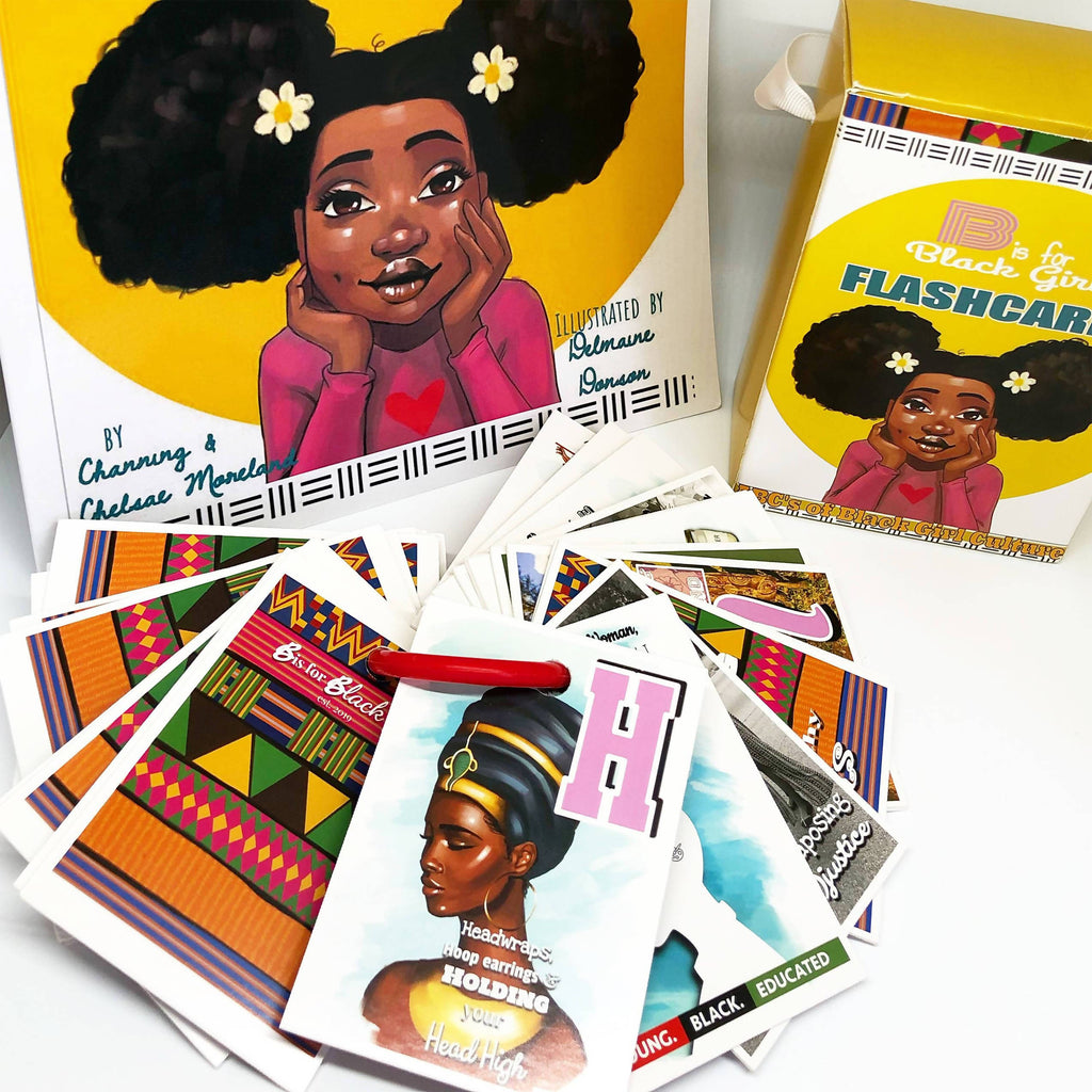 B Is for Black girl flashcard set