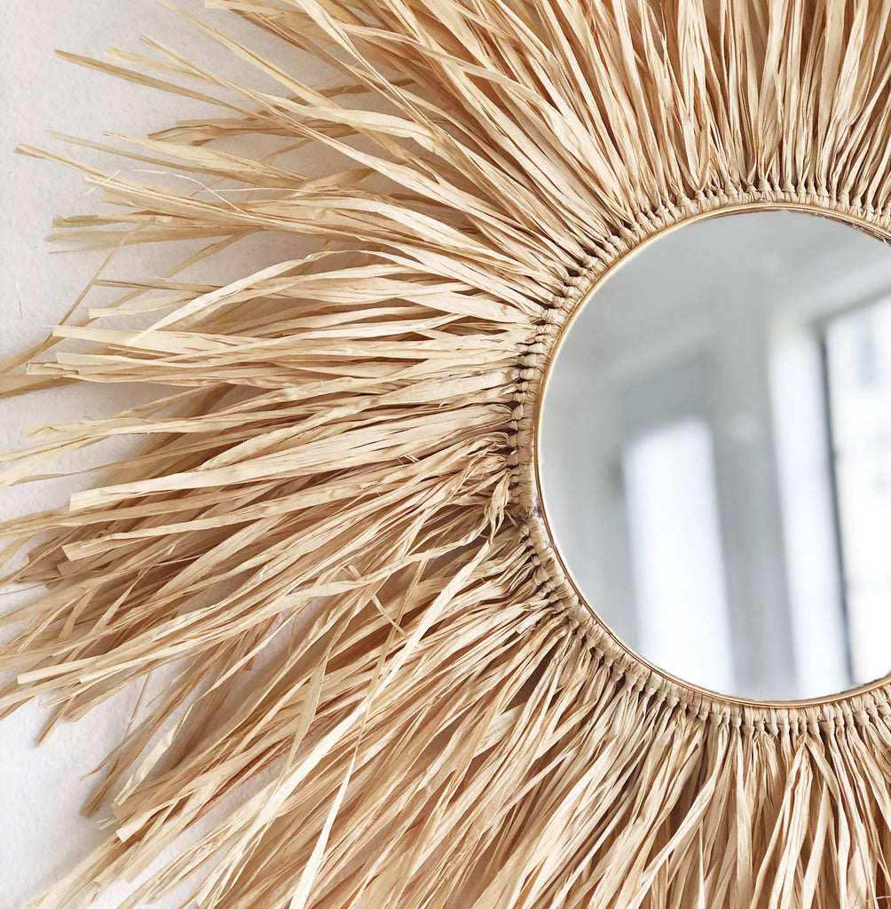 Beautiful handmade mirror that will add texture to your walls.