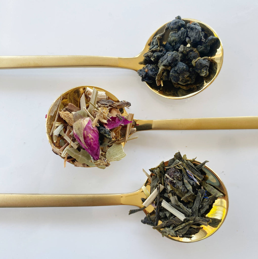 Three out of four tea samples from Clarity Tea Box