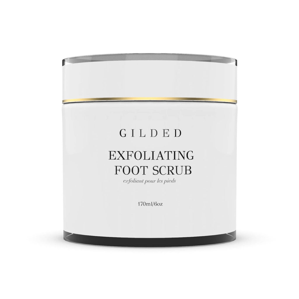 Exfoliating foot scrub that blends organic AHA fruit extract and cupuacu butter.