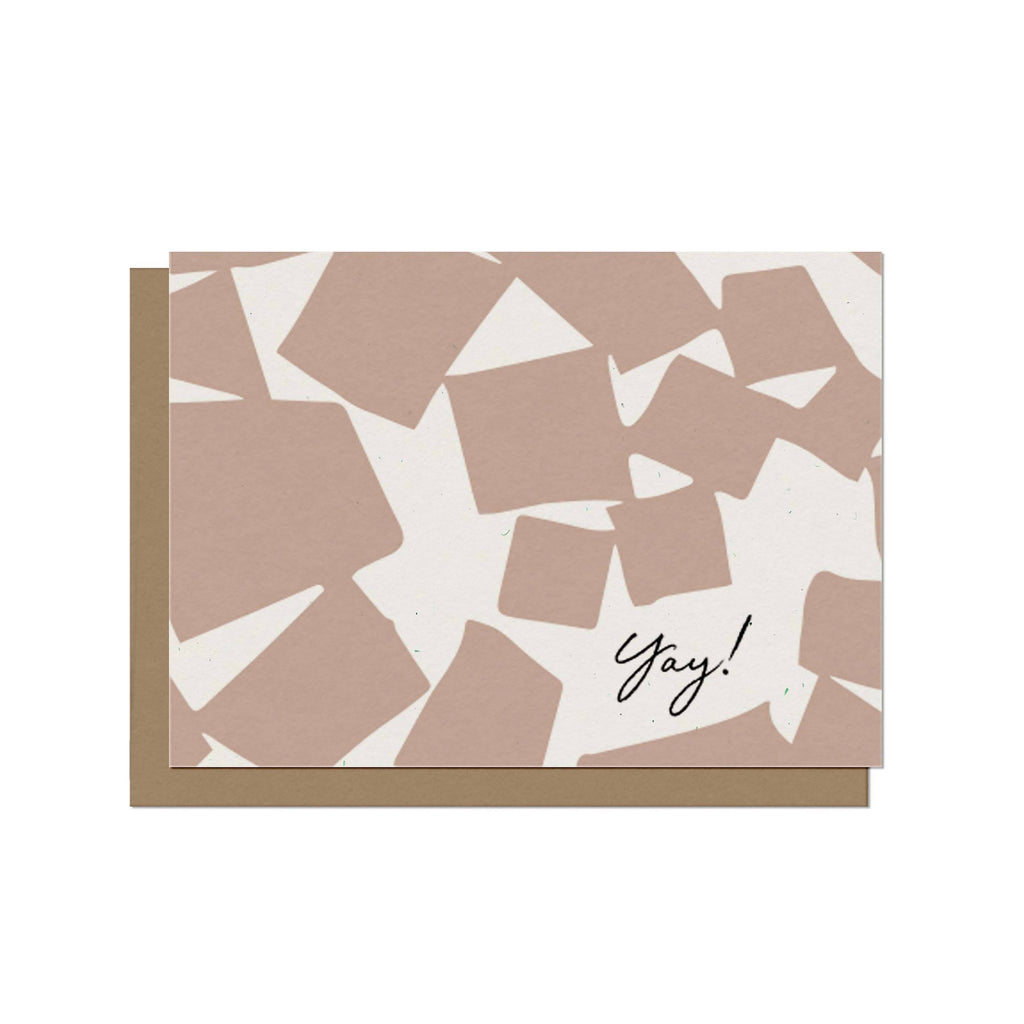 Shop this personalized greeting card for any celebratory occasion. Blank inside for a personal message, printed on recycled paper.
