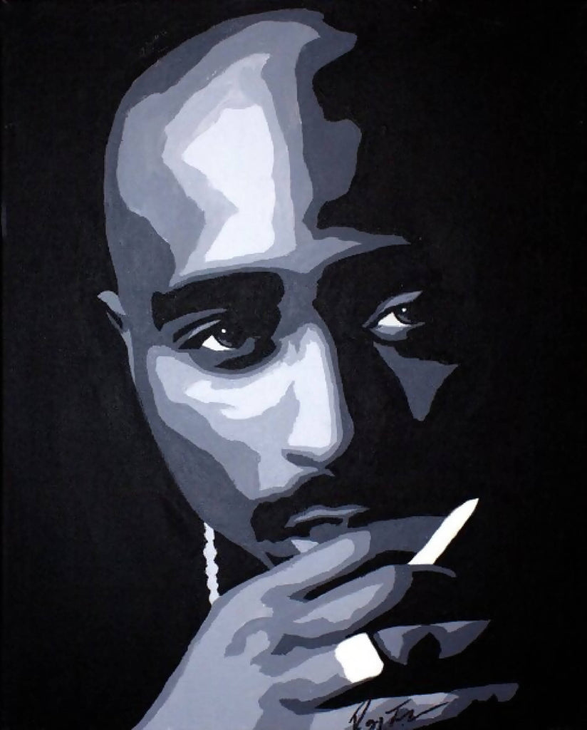 Tupac Shakur Paint By Number Art Kit option