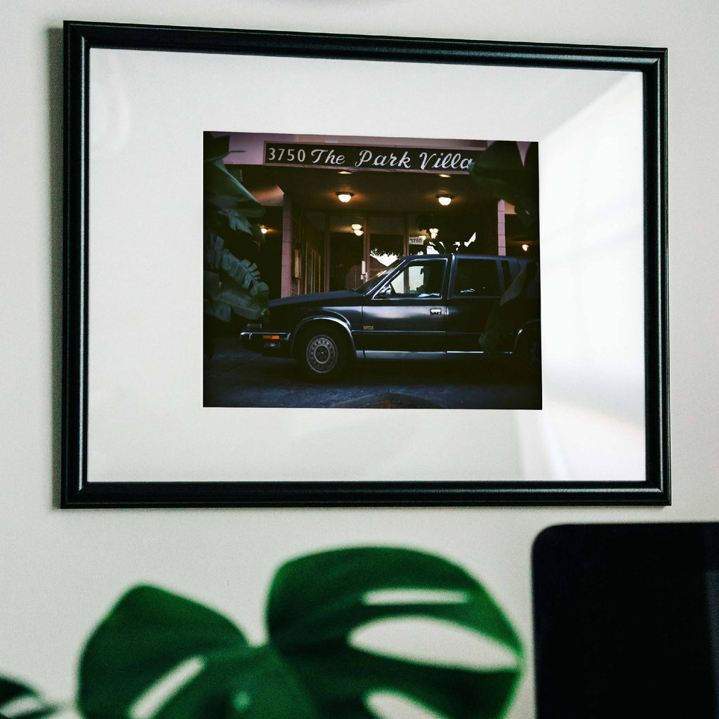 Print featuring building on Stocker in Los Angeles. Printed on Hahnemuhle Photo Rag paper.
