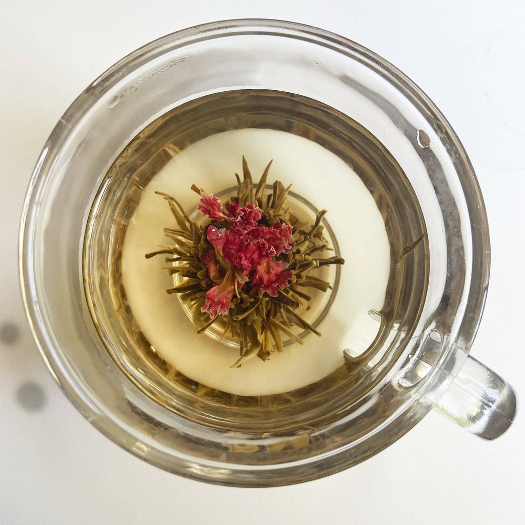 Handcrafted White Tea Bloom Flowering Tea.