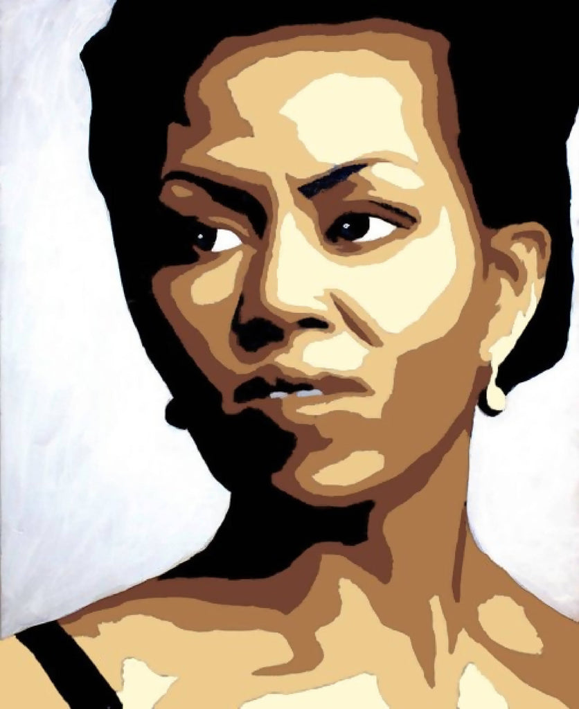 Michelle Obama Rosa Parks Paint By Number Art Kit option