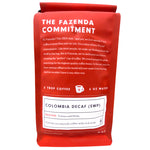 Colombia Decaf Medium Roast Coffee - Back Picture