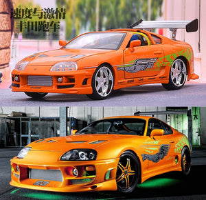 comparing the car from fast and furious to the model 1:24 1995 Toyota Supra Fast and Furious 8