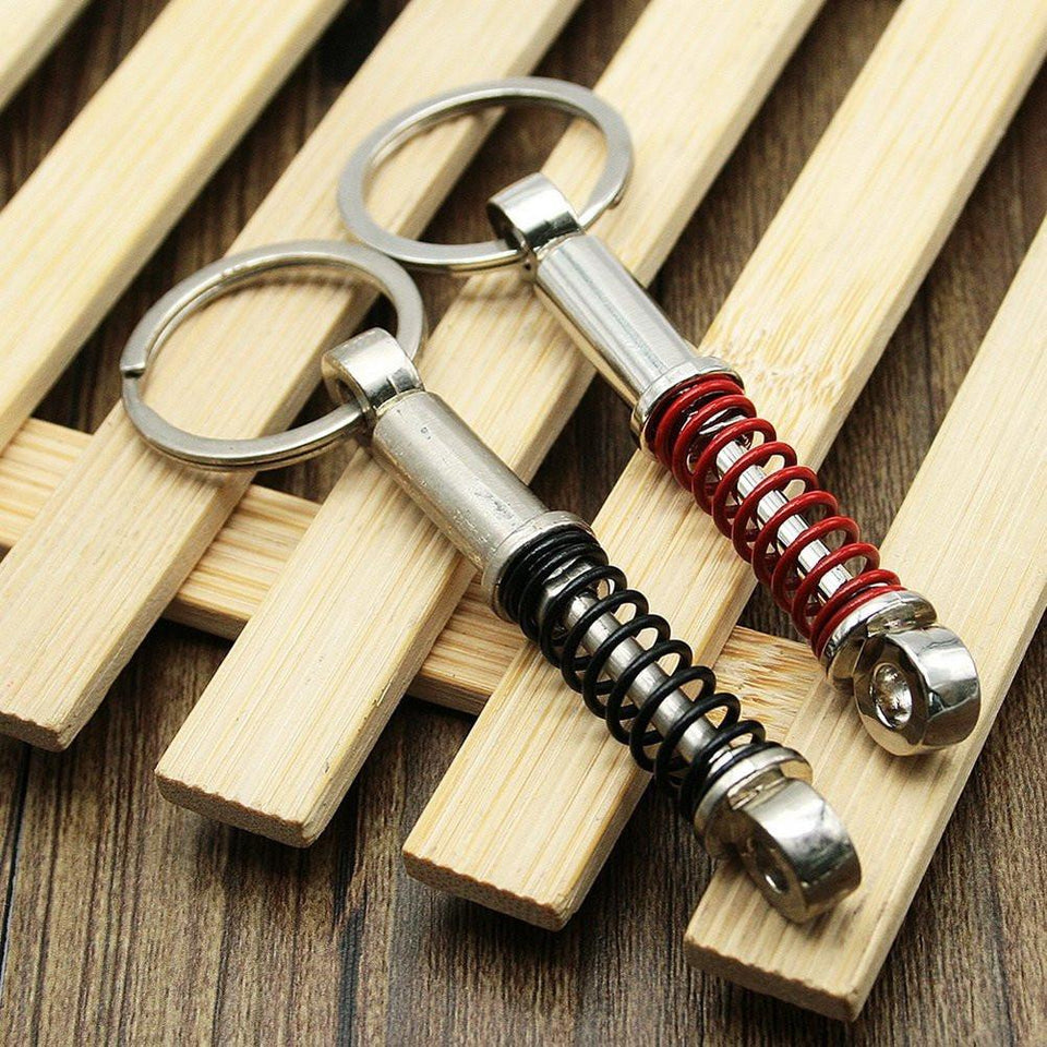 Spring Shock Absorber Keychain