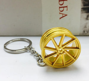 New Alloy Car Wheel Rim Keychain