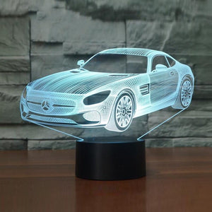 Mercedes 3D LED Night Lamp