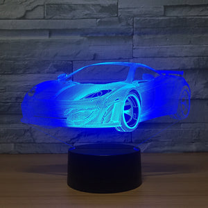 Cool Car 3D LED Night Lamp