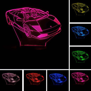 Lamborghini Murciélago 3D LED Night Lamp