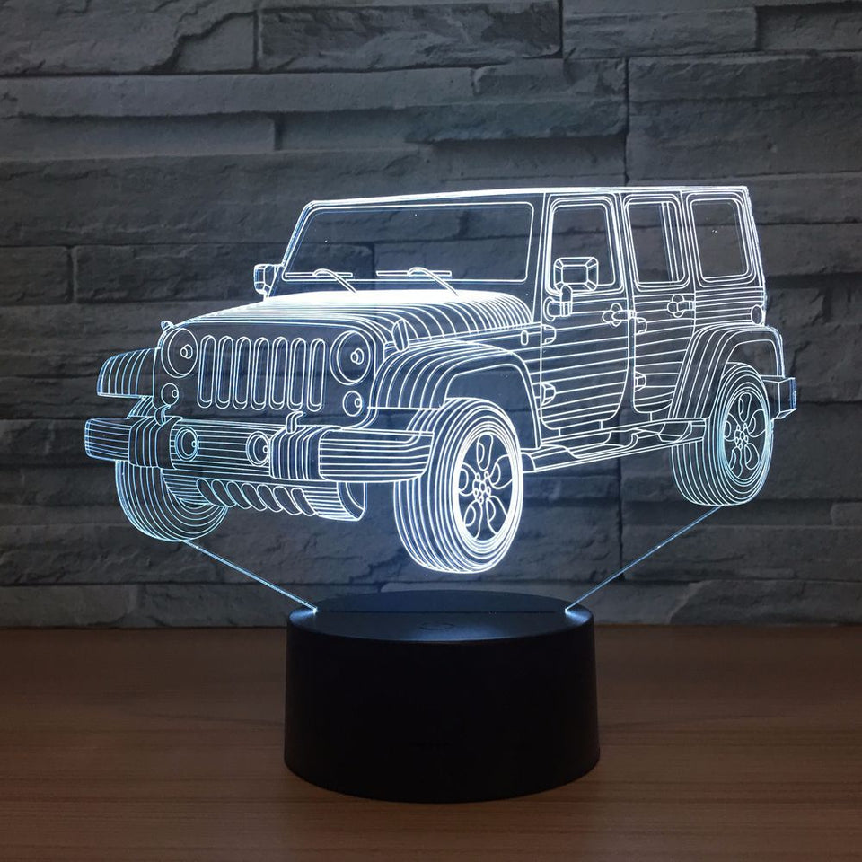 Jeep 3D Illusion Lamp