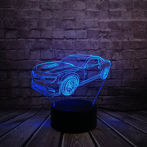 Chevrolet Camaro 3D LED Night Lamp