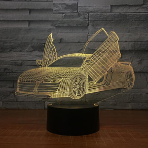 Audi R8 3D Night Lamp