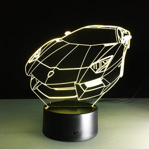 Lamborghini Aventador 3D LED Night Lamp
