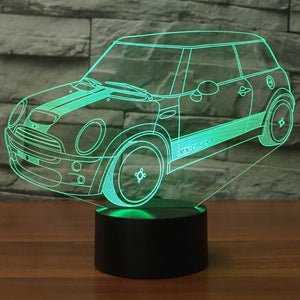 Mini Cooper 3D LED Night Lamp