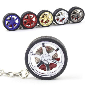 Rim & Wheel Keychain