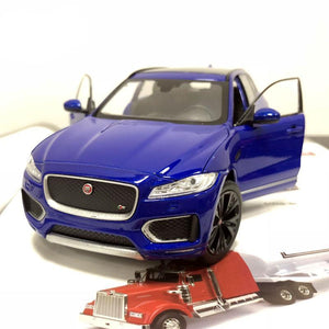 ocean blue 1:24 Jaguar F-Pace SUV Die-Cast Model