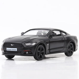 1:36 Matte Black Ford Mustang Die-Cast
