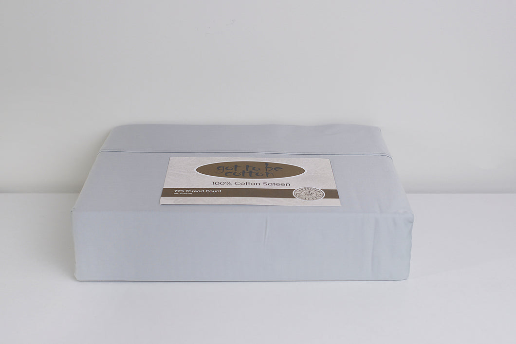 got to be cotton, 775TC 100% cotton sateen sheet set - SILVER - King