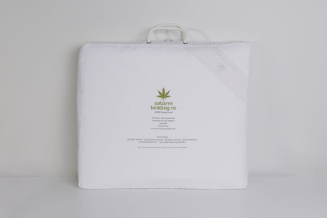 Queen size 100% hemp duvet  500gsm
