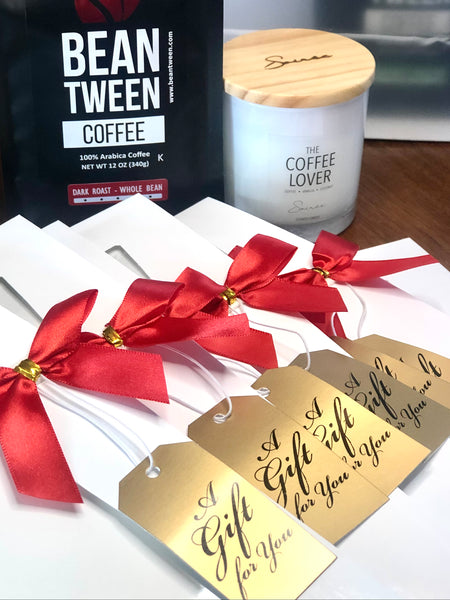 Coffee Lover Gift Set, Coffee + Candle
