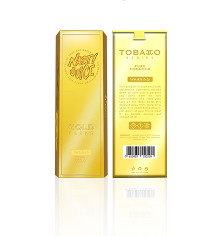 Nasty Juice Gold Blend Tobacco flavoured e-liquid for vaping