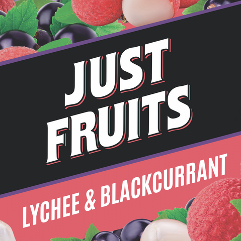 Just Fruits - Lychee & Blackcurrant