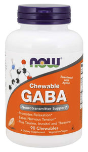 GABA Orange Flavor Chewable Tablets | Neurotransmitter Support*