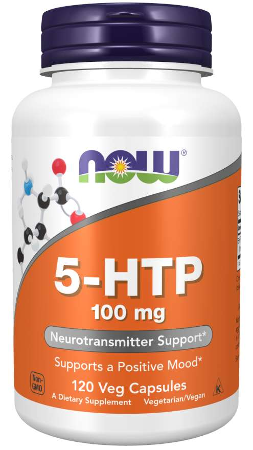 NOW Supplements, 5-HTP (5-hydroxytryptophan) 100 mg, Neurotransmitter Support, 120 Veg Capsules