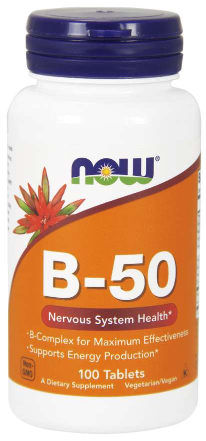 Vitamin B-50 Tablets | Nervous System Health