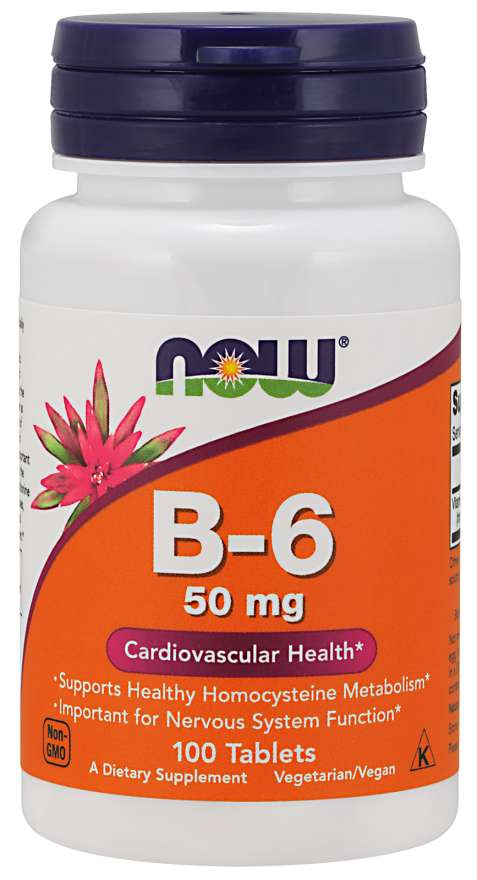 Vitamin B-6 50 mg Tablets | Cardiovascular Health*