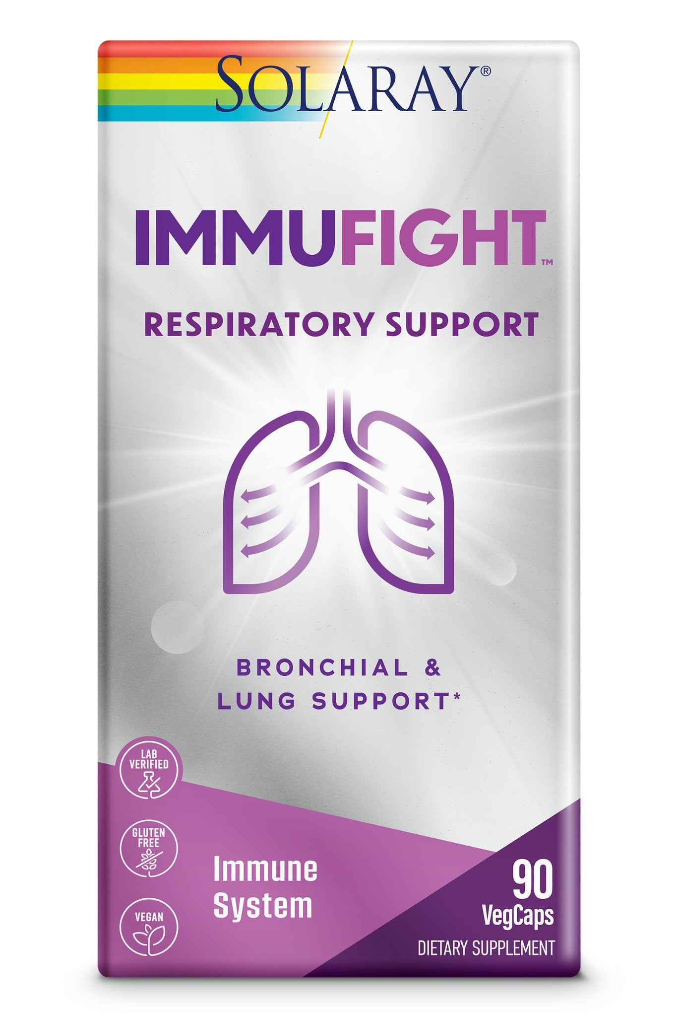 Solaray Immufight Respiratory Support Bronchial & Lung Support 90 Veg Caps