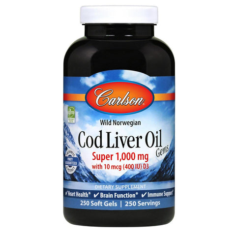 Cod Liver Oil Gems™, Super | 1,000 MG - Discount Nutrition Store