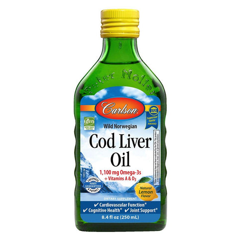 Cod Liver Oil Liquid | 1,100 mg - Discount Nutrition Store