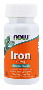 Iron 18 mg Veg Capsules | Essential Mineral