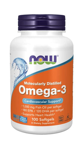 Omega-3, Molecularly Distilled Softgels | Cardiovascular Support*