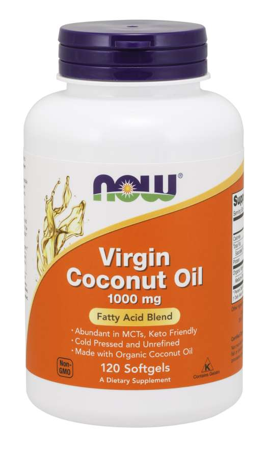 Virgin Coconut Oil 1000 mg Softgels |  Fatty Acid Blend