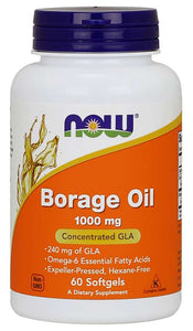 Borage Oil 1000 mg Softgels | Concentrated GLA