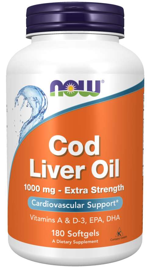Cod Liver Oil, Extra Strength 1,000 mg Softgels | Cardiovascular Support*