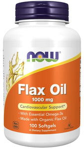 Flax Oil 1000 mg Softgels | Cardiovascular Support*